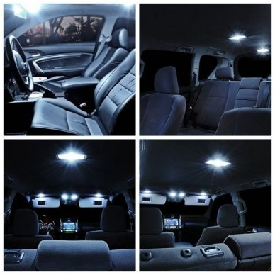Volkswagen Golf 6 LED salono apšvietimo lempučių komplektas 6