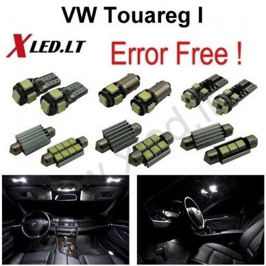 Volkswagen Touareg T1 T2 LED salono apšvietimo lempučių komplekta
