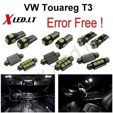Volkswagen Touareg T3 LED salono apšvietimo lempučių komplektas