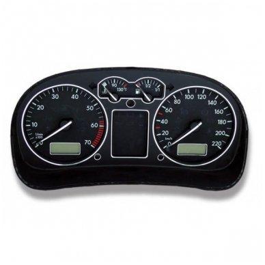 VOLKSWAGEN VW CHROME spidometro žiedai 3