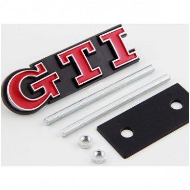 VW GTI pilkas grotelių ženkliukas 4