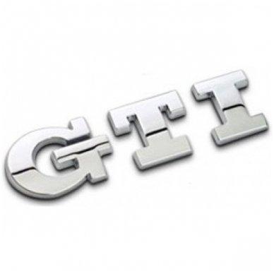 VW GTI pilkas lipdukas