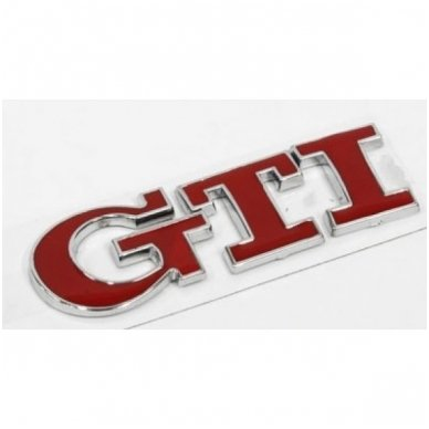 VW GTI raudonas lipdukas 3