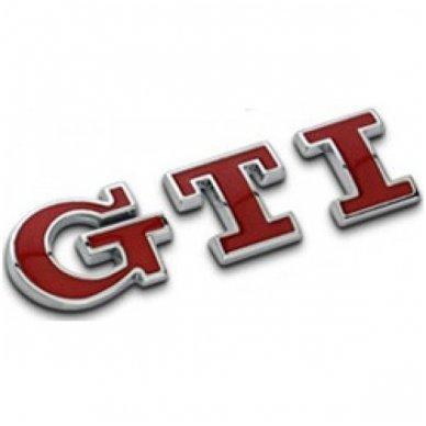 VW GTI raudonas lipdukas