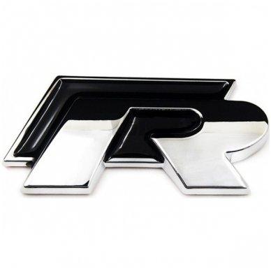 VW R-line klijuojama juoda emblema