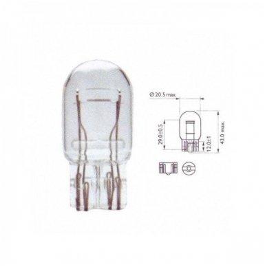 W21/5W / 7443 keturių apatinių kontaktų lemputės jungtis tvirtinimas į žibintą 3