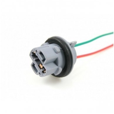 W21W / 7440 dviejų apatinių kontaktų lemputės jungtis tvirtinimas į žibintą 2