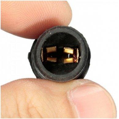 W5W / T10 lemputės jungtis universalus tvirtinimas į žibintą PVC minkštas 2