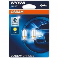 WY5W 2 vnt. OSRAMS DIADEM & CHROME 12V 5W geltonos veidrodinės lemputės 2827DC-02B, 4008321972750