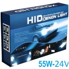 Xenon komplektas CAN-BUS 55W, 24V, H1, H3, H4-2, H7, H8, H11, HB3, HB4, 880 lemputės