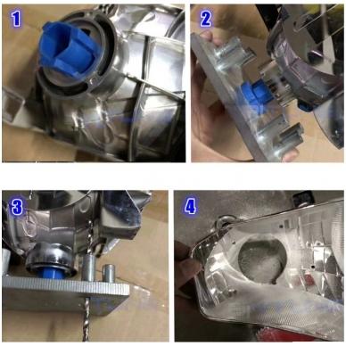 Xenon ir halogeninių linzių montavimo plokštė 12