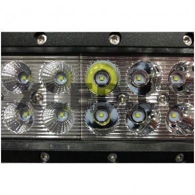 XLED 108W LED BAR žibintas apatinio tvirtinimo COMBO 44cm 3
