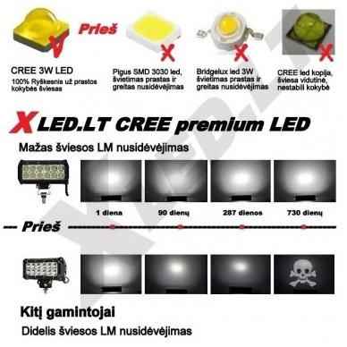 XLED 108W LED BAR žibintas apatinio tvirtinimo COMBO 44cm 6