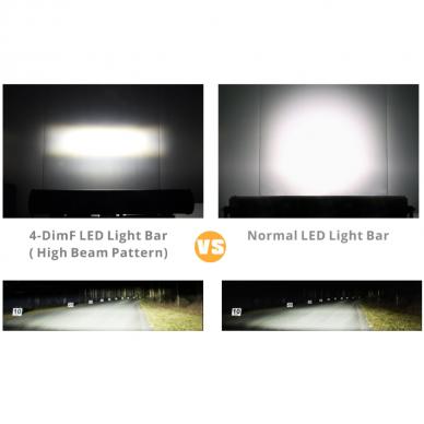 XLED 4D 126W OSRAM-CRD LED apatinio tvirtinimo žibintas SPOT 51cm 11
