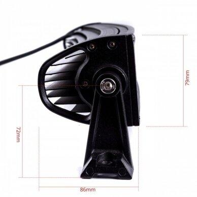 XLED 4D 180W lenktas OSRAM-CRD LED žibintas COMBO 82cm 2
