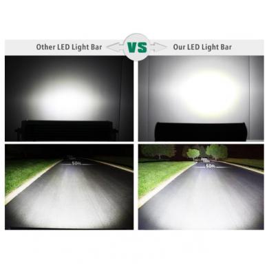XLED 72W LED BAR žibintas apatinio tvirtinimo COMBO 30cm 9