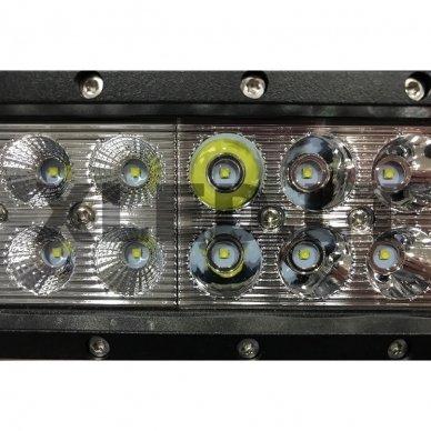 XLED 54W LED BAR žibintas apatinio tvirtinimo COMBO 23cm 4