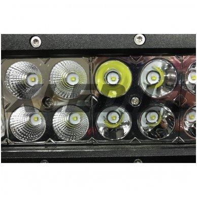 XLED 72W LED BAR žibintas šoninio tvirtinimo COMBO 36cm 8